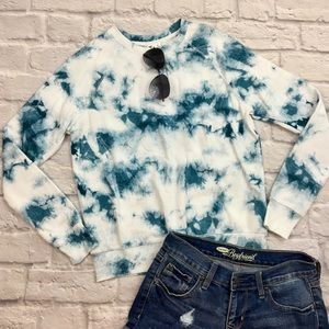 {Others Follow} NWT Blue/White Marbled Sweatshirt